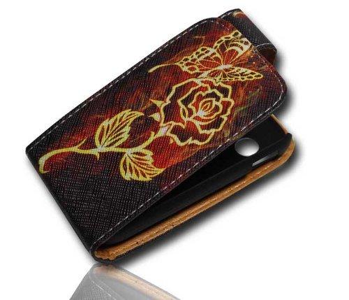 Handy Tasche Case Flip für Samsung Galaxy Y GT-S5360 / Hülle Etui Handytasche Schutzhülle JS M17