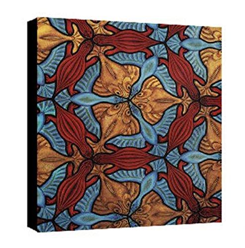 Quadro intelaiato Pronto da Appendere Escher 41 cm 35x50 Stampa su Tela Canvas Vendita Falsi di Autore Il Negozio di Alex