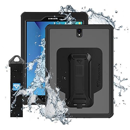 MXS-S3 | Samsung Galaxy Tab S3 9.7 T820 T825 | IP68 Waterproof Case with Handstrap & Kickstand & X-Mount