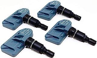 ITM Set of 4 08017DXS TPMS 433mhz Tire Pressure Sensors w/Gloss Black or Matte Black Aluminum Valve Stems for Tesla Model S 3 X Aftermarket Replacement (Matte Black)