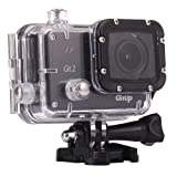 GitUp Git2 1080p Full HD Gyro Video Wi-Fi Action Camera, 60 fps, 170 Degree View Angle, 98' Housing Waterproof, Pro Packaging, Black