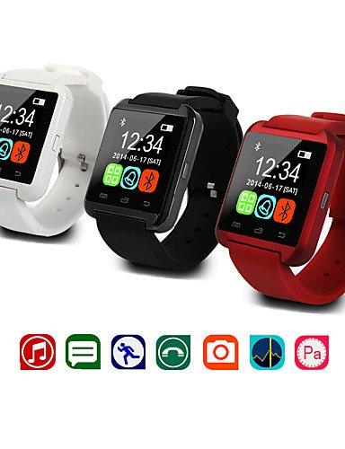 zzll8451 Bluetooth Reloj Reloj u8 muñeca Inteligente u SmartWatch para Samsung s4 / Nota 2/3, HTC LG Xiaomi Smartphones teléfono de Apple androide, Black KKKAOOL