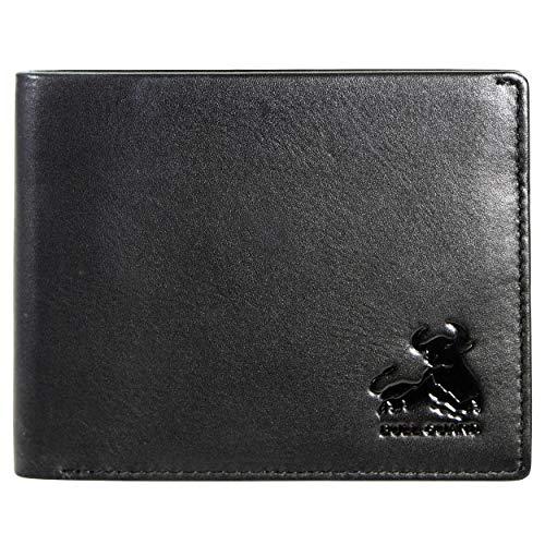 RFID Blocking Wallet For Men Bifold Soft Black Genuine Nappa Leather