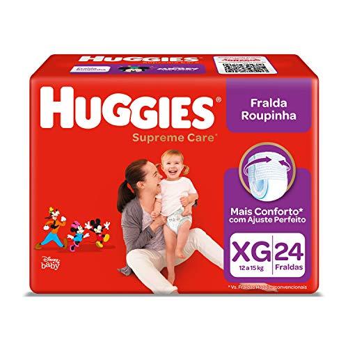 Huggies Fralda Supreme Care Roupinha Mega XG, 24 Fraldas