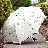 Jumix Folding Mini Blossom Compact Umbrella for Girls and Women (Multi Color)