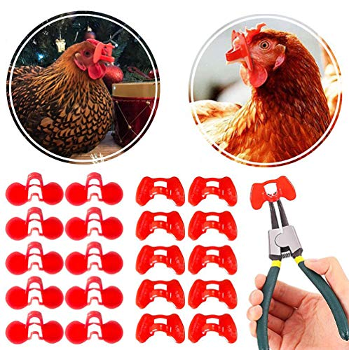 DSSPORT Pinless Peepers with Pliers Set Chicken Peepers Eye Glasses Pheasant Poultry Blinders Spectacles Anti-Pecking 41 Pieces