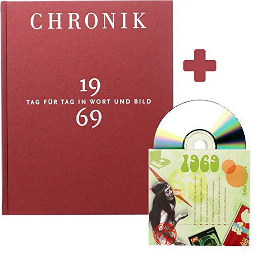 Jubiläums-Set 1969: Buch-Chronik 1969 + Musik-CD 1969 - Das doppelte Geschenk zum Geburtstag - Jahrgangs-Chronik + 20 Top-Hits