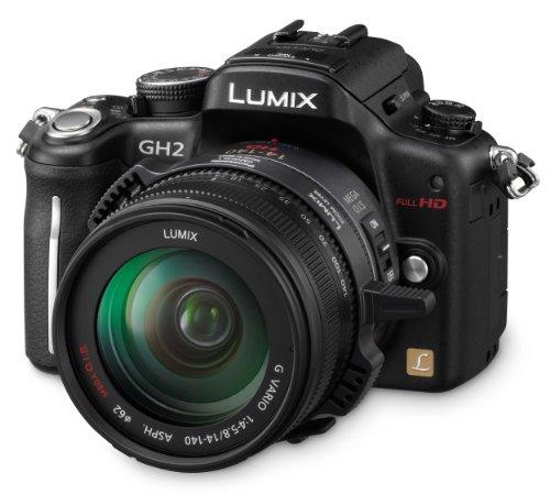 Panasonic Lumix DMC-GH2HEG-K Systemkamera (16 Megapixel, 7,6 cm (3 Zoll) Display, bildstabilisiert) matt-schwarz inkl. Lumix G Vario HD 14-140mm Objektiv