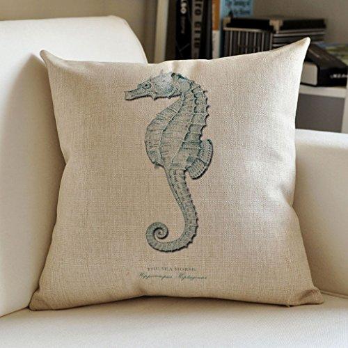 Oreiller imprimé en lin, coussins de canapé coussins de lit, coussins de bureau coussins de dos (Couleur : C, taille : 45 * 45cm)