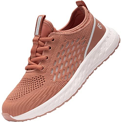 LARNMERN PRO Zapatillas de Deporte Mujer Running Zapatos Ligero Transpirable Correr Gimnasio Casual Sneakers Comodo Gym Shoes Rosa 39 EU