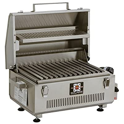 Solaire SOL-IR17BWR Anywhere Portable Infrared Warming Rack Gas Grill, Stainless Steel