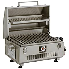 Real Infrared ceramic and Stainless Steel burner with electronic push-button ignition 140 Square inches of grilling area that fits six 4-inch burgers on special v-grate that improves flavor and virtually eliminates flare-ups, plus 67 Square inches of...