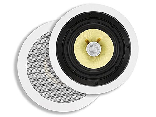 Lowest Price! Monoprice 2-Way in-Ceiling Speakers 6.5 Inch (Pair) 50W Nominal, 100W Max, Aramid Fiber Fiber Cone Driver – Caliber Series