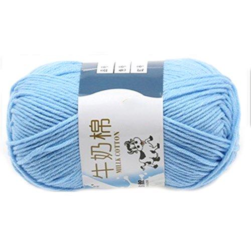 Suave Suave Leche de algodón natural de la mano de tejer lana de lana bola del hilado del bebé...