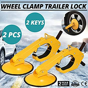 9TRADING 2PCS Wheel Lock Clamp Boot Parking Tire Claw Trailer Auto Car Truck Anti-Theft