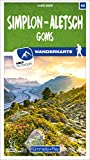 Simplon - Aletsch Goms Nr. 42 Wanderkarte 1:40 000: Matt laminiert, free Download mit HKF Outdoor App (Kümmerly+Frey Wanderkarten)