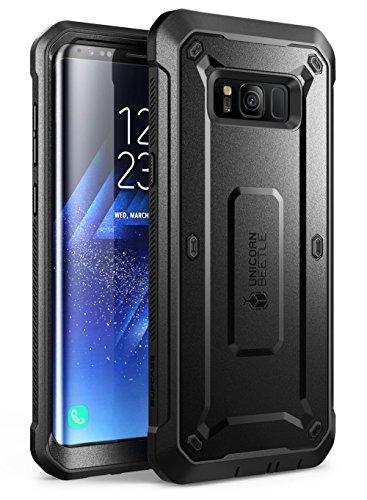 SUPCASE Outdoor Hülle für Samsung Galaxy S8 Hülle 360 Grad Handyhülle Bumper Hülle Schlagfest Schutzhülle Cover [Unicorn Beetle Pro] mit eingebautem Bildschirmschutz & Gürtelclip (Schwarz)