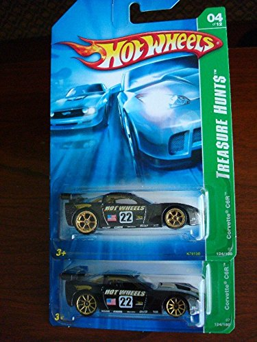 HOT WHEELS TREASURE HUNT CORVETTE GRAND SPORT T-HUNT 2011  SHORT CARD