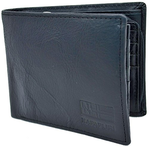 Heren portemonnee Napapijri Wallet Men N8G04 Rugged Fold 16CC Zip Black