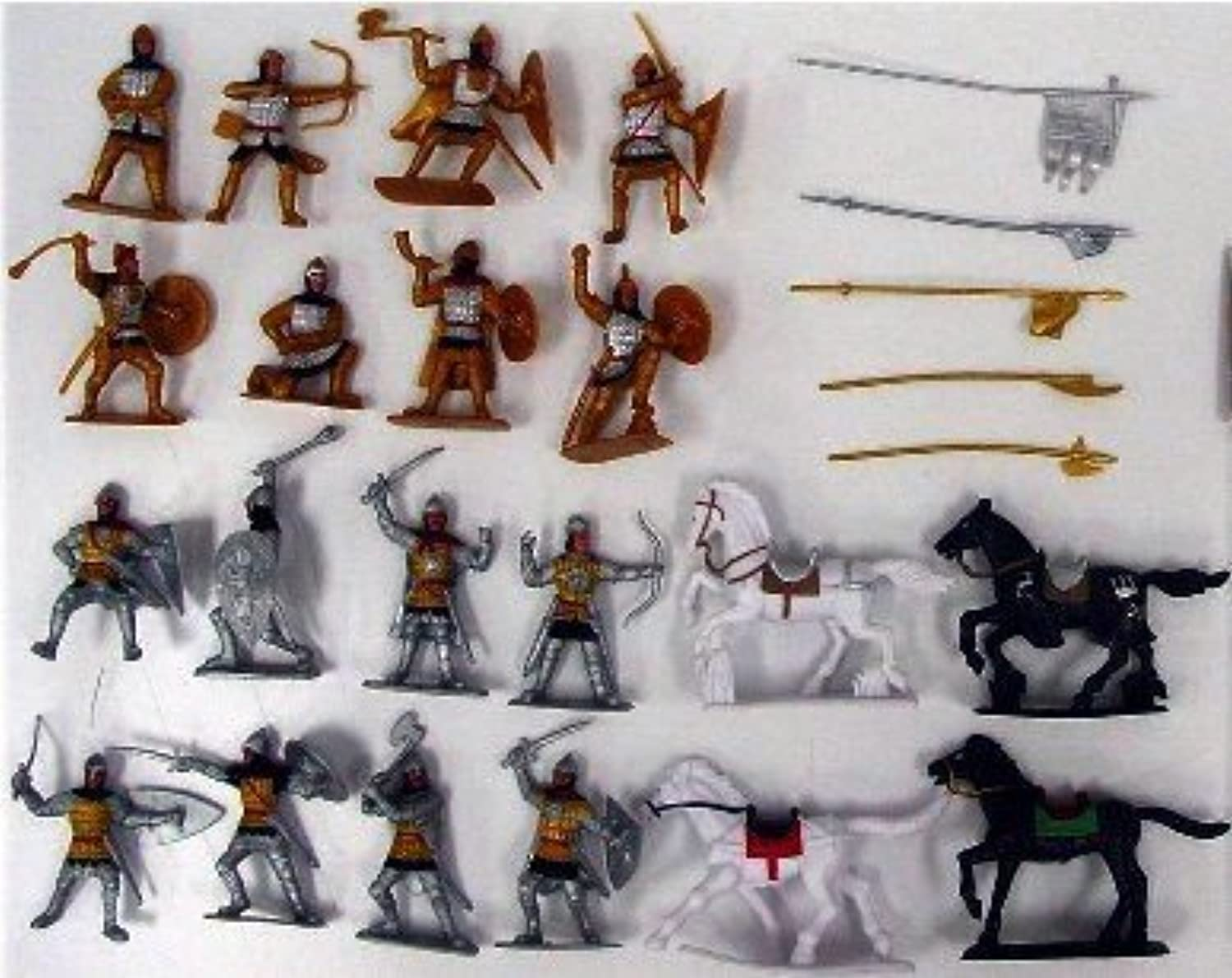 Russian Knights Playset (16 Figures w Weapons & 4 Horses) (Bagged) 1 32 Playsets by Playsets