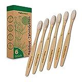 ProBamboo   Spazzolino da denti in bambù – 6 spazzolini da denti sostenibili – 100% senza BPA – Spazzolino durevole, naturale ed ecologico biodegradabile