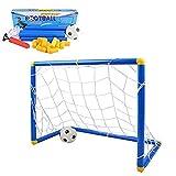 Suyi Portería de Fútbol para Niño Infantil Portátil Desmontable Mini Fútbol Puerta Set con Balón de Fútbol Uso en Interiores y al Aire Libre Deportes