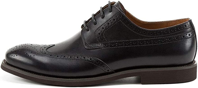 EGS-schuhe Herrenschuhe Herrenschuhe aus hochwertigem Leder handgefertigte Retro Oxford-Schuhe Oxford-Schuhe British Bullock Geschnitzte Business-Herrenschuhe,Grille Schuhe (Farbe   schwarz, Größe   40-EU)  erschwinglich