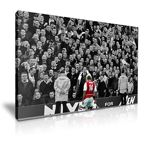 Thierry Henry objetivo Arsenal v Spurs fútbol lienzo de icono 76cm x 50cm