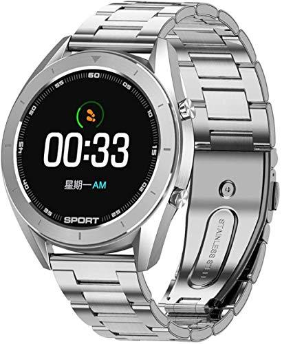 KLT Reloj inteligente para hombres y mujeres de frecuencia cardíaca, presión arterial, monitoreo de oxígeno en sangre, impermeable, deportes, medidor de agua, soporte GPS de seguimiento