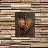 Decoración de pared acrílica – El corazón fue cosido después de haber sido roto, decoración del hogar, decoración de pared de corazón roto, adornos colgantes de pared 25 x 17 cm (C)