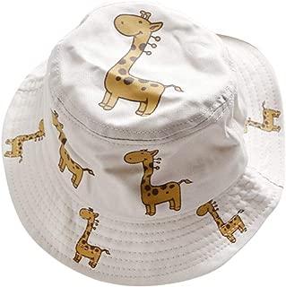 IMLECK Baby Sun Hat with UPF 50+ Outdoor Giraffe Pattern Beach Hat with Wide Brim