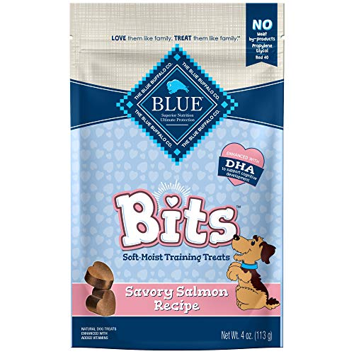 Blue Buffalo Blue Bits Natural Soft-Moist Training Dog Treats, Salmon Recipe 4-oz bag