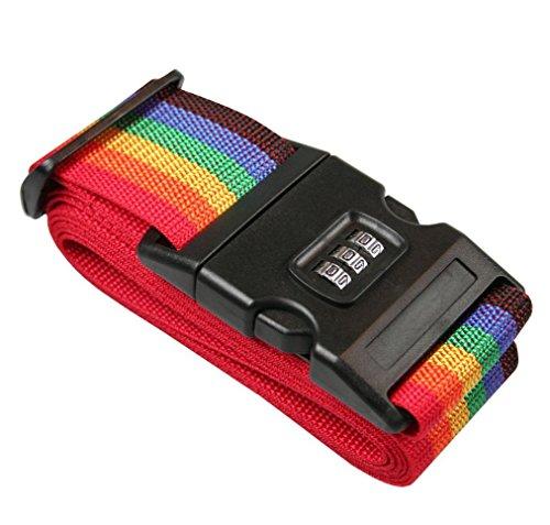 Koffergürtel mit Zahlenschloss | Gepäckgurt | Koffergurt | Gepäckschloss | Kofferschloss mit 3-Zahlencode