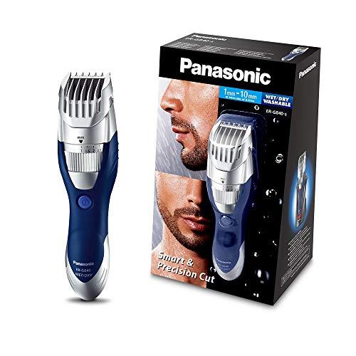 Panasonic ER-GB40-S503 - Cortapelos en seco y húmedo, lavable, cuchilla con ángulo de 45º, color plateado