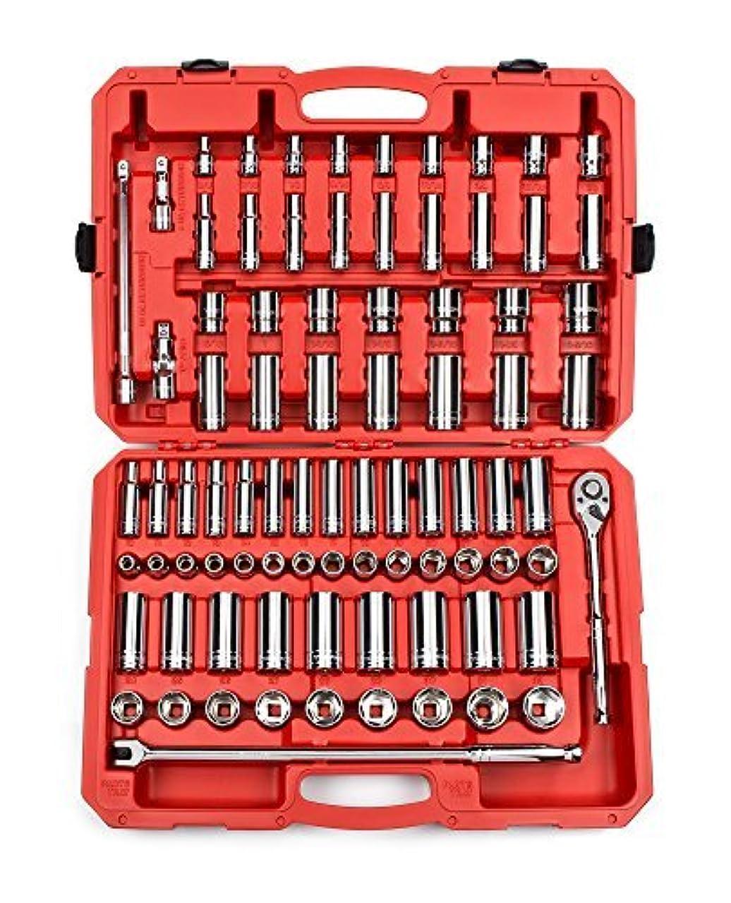 ホイッスル私達コマースTEKTON 1/2-Inch Drive Socket Set Inch/Metric 6-Point 3/8-Inch - 1-5/16-Inch 10 mm - 32 mm 84-Piece | 13203 [並行輸入品]