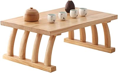 Small Coffee Table in Living Room Solid Coffee Table Japanese Style Tea Table Home Low Table Outdoor Small Table (Color : B, Size : 80x50x30cm)