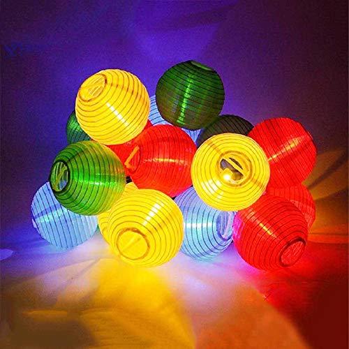 AdoDecor Lantern Solar String Light Globe Ball Christmas Party Fairy String Light Outdoor Patio Garden Garland Fairy Lights 10PCS Lantern Ball Gift