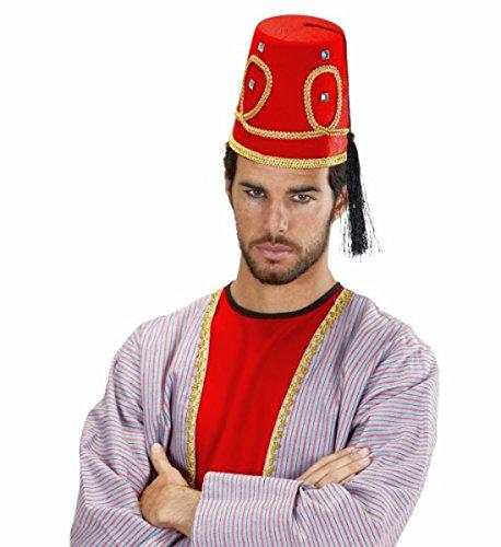 NET TOYS Arabischer Fez Hut Tarbusch Osmanische Kopfbedeckung Türkenfez Araberhut Marokkanerhut FES Filzhut