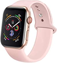 jwacct Correa Compatible con Apple Watch 38mm 40mm 42mm 44mm, Sport Correa de Silicona Suave Compatible con iWatch Series 4/3/2/1