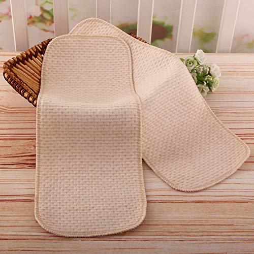 SSRSHDZW Nappy Pads Diaphragmen Neugeborene Baumwolle Waschbare Windeln Faltbare Superabsorbierenden Natürliche Umweltfreundliche Komfortabler 10 PCS