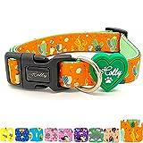 Holly Mascotas Collar de Perro Acolchado, Suave Acogedor, Collar Transpirable para Perros pequeños/medianos/Grandes, Collares Ligeros de Entrenamiento al Aire Libre Hechos en España Gran Acabado.
