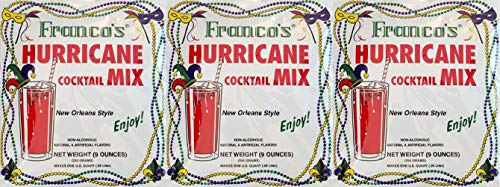 Franco's World Famous Hurricane Cocktail Mix 9 Ounce - Pack of 3