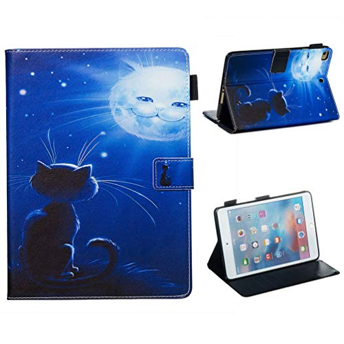 Vogu'SaNa Compatible for Tablet Case iPad Mini 2019/Mini4/3/2 Polyurethane Leather Protective Case Painting Pattern Flip Cover Cover Stand Card Slots Magnetic Cover Shell Sleeves