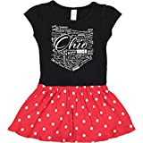 inktastic Ohio Word Salad Toddler Dress 3T Black & Red with Polka Dots 28a8a