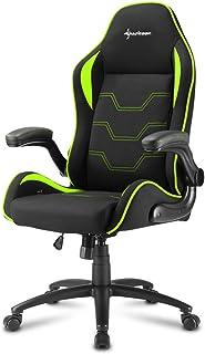 Sharkoon Elbrus 1 Gaming Chair/ Seat, Durable upto 120 Kgs - Black/ Green