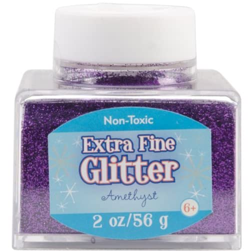 Sulyn Extra Fine Amethyst Purple Glitter Stacker Jar, 2 Ounces, Non-Toxic, Stackable and Reusable Jar, Multiple Slot… |