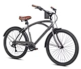 Snow Shop Everything 26' 7-Speed Bayside Men's Bike, Satin Cocoa Color, Quick-Release Seat, for...