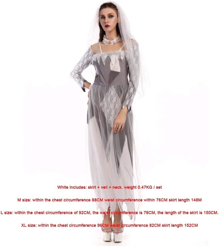 SPFAZJ Halloween New Ghost Bride Zombie Costume Costume Party Cosplay Costume Vampire Demon