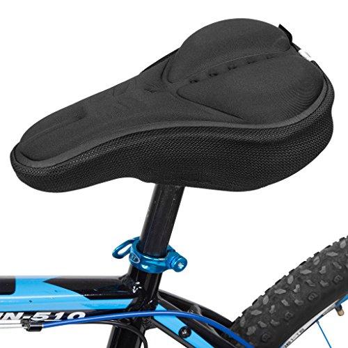 Kutook Coprisella Bici con 3D Spugna Cuscino Extra Comfort per Sellino Bicicletta(Nero)