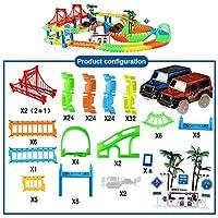 鉄道マジカルレーシングトラックプレイセットの教育DIYベンド柔軟な人種の子供たちのためにトラックエレクトロニックフラッシュライトの車のおもちゃ (色 : No original box 2002)